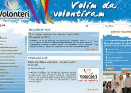 Volonteri - Univerzijada Beograd 2009 / web dizajn