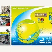 Banner za 2. međunarodno otvoreno prvenstvo Rijeke u tenisu