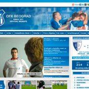 Zvanična prezentacija fudbalskog kluba OFK Beograd | web design